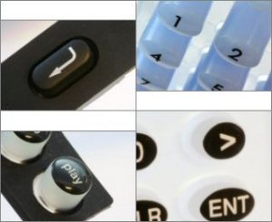 Examples of Silicone Rubber Keypads Design Options: Finish