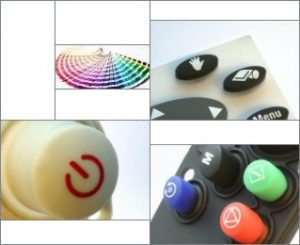 Examples of Silicone Rubber Keypads Design Options: Printing